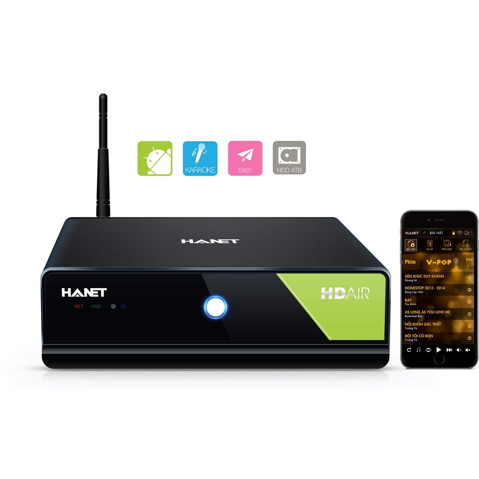 Đầu Karaoke Hanet HD Air 4TB - 1