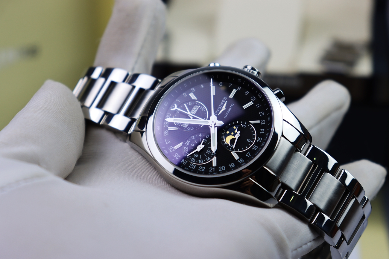 LONGINES CONQUEST MOON PHASE L2.798.4 Automatic Size 42mm FullBox